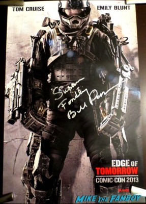 bill paxton signed autograph edge of tomorrow SDCC Movie Poster