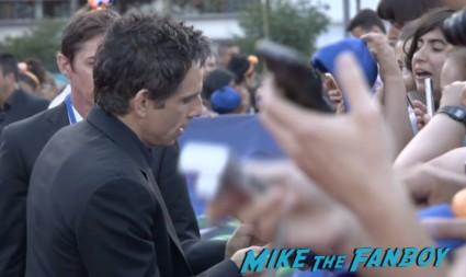 Ben Stiler signing autographs for fans Turbo Barcelona Premiere red carpet snoop dog signing autographs