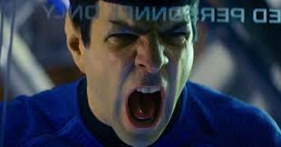 Spock yelling zachary quinto rare promo spock vulcan showing emotion