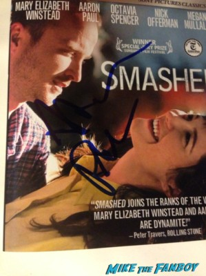 aaron paul signed autograph smashed dvd cover rare promo movie poster promo