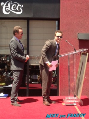 Bryan Cranston walk of fame star ceremony aaron paul's speech signing autographs