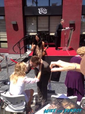 Bryan Cranston walk of fame star ceremony aaron paul's speech signing autographs