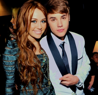 miley cyrus justin bieber hanging out and dancing rare
