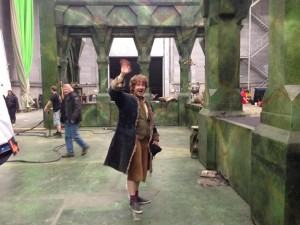 bilbo baggins done behind the scenes still the hobbit peter jackson tweet rare