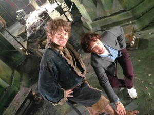 bilbo baggins done behind the scenes still the hobbit peter jackson tweet rare