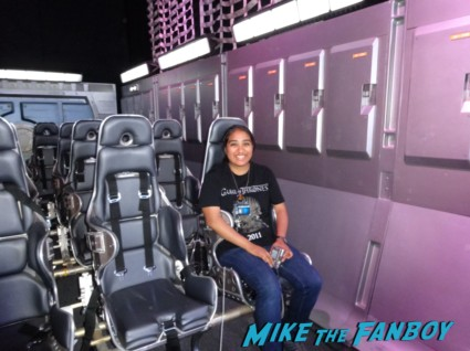 Elisa at the ender's game experience san diego comic con 2013 Ender's Game Off Site experience sdcc 2013 rare promo