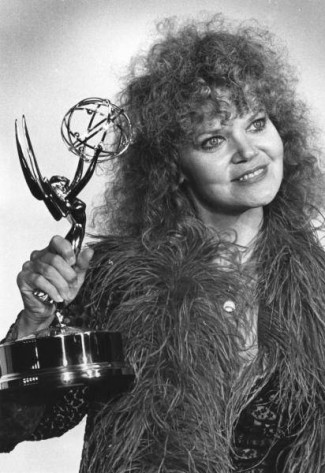 eileen-brennan with her emmy award for the television series private benjamin rare