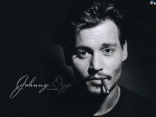 Johnny Depp smoking photo rare wallpaper promo
