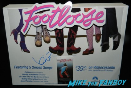 kevin bacon signed autograph signature rare footloose counter standee original kevin bacon signing autographs for fans jimmy kimmel live 007
