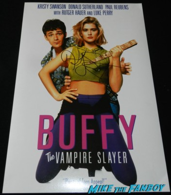 kristy swanson signed autograph buffy the vampire slayer mini movie poster rare kristy swanson signing autographs for fans buffy the vampire sla 069
