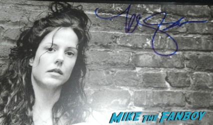 mary louise parker mark selinger signed lithograph rare hot sexy autograph mary louise parker signing autographs hot sexy weeds star kimmel 064