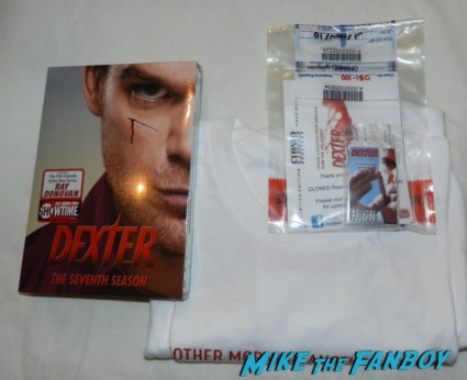 dexter podcast wrap up swag bag season 7 DVD meeting michael c hall dexter podcast wrap up 045