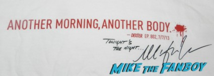 dexter podcast wrap up swag bag season 7 DVD meeting michael c hall dexter podcast wrap up 045