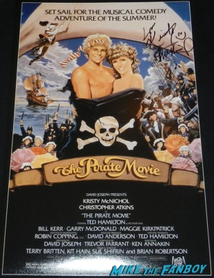 Kristy Mcnichol signed the pirate movie poster signing autographs the pirate movie now 2013 rare empty nest meeting william ragsdale krity mcnichol signing autographs holly 005