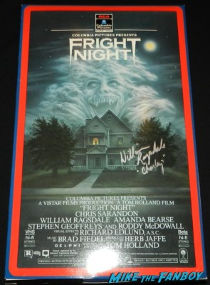 fright night oversize VHS box signed autograph william ragsdale charlie brewster rare meeting william ragsdale krity mcnichol signing autographs holly 025