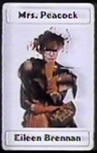 Mrs. Peacock clue the movie card end credits rare eileen brennan clue he movie castEileen brennan from clue the movie ms. peacock rare