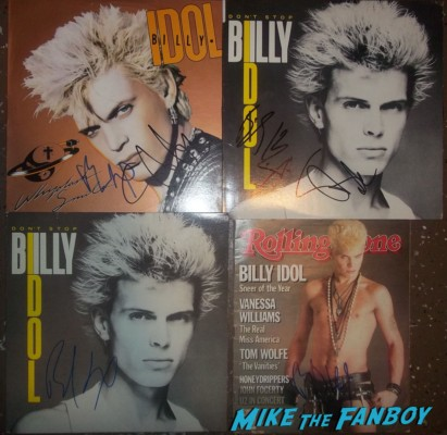 Billy Idol signed autograph lp original rolling stone magazine hot sexy photo rare