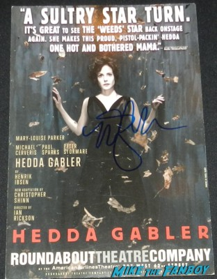 Hedda Gabler roundabout theater promo play card signed mary louise parker rare Mary louise parker kevin nealon hunter parrish signed autograph weeds cast photo justin kirk