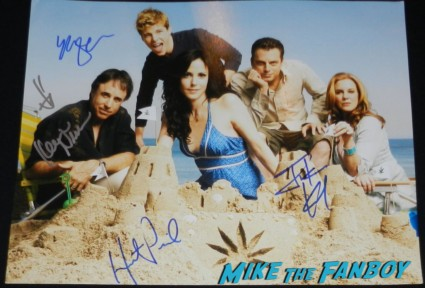 Mary louise parker kevin nealon hunter parrish signed autograph weeds cast photo justin kirk
