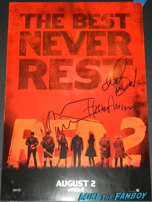 red 2 signed autograph mini movie poster helen mirren john malkovich neal mcdonough signed 2 movie premiere red carpet mary louise parker autograph 058