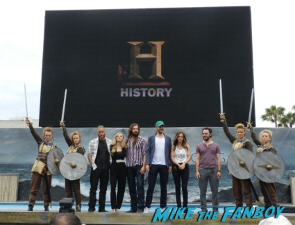 Vikings cast group photo sdcc comic con Vikings Cast Autograph Signing At The SDCC Waterway Experience! With Travis Fimmel! Katheryn Winnick! George Blagden! Gustaf Skarsgard! Clive Standen! Jessalyn Gilsig! And More! san diego comic con 2013 signing autographs day 1 104