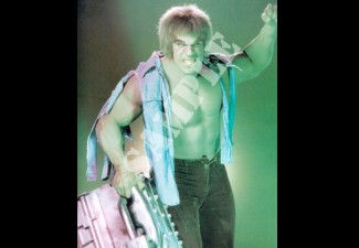 "Lou ""The HULK"" Ferrigno shirtless the hulk photo rare promo signed autograph"