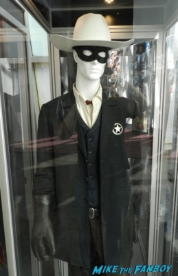 Armie Hammer The Lone Ranger original prop and costume display