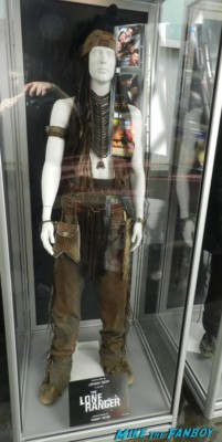 johnny depp The Lone Ranger original prop and costume display