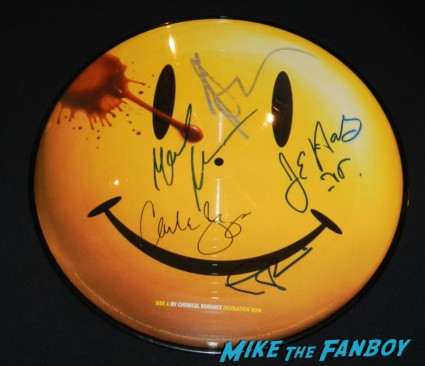 watchmen soundtrack picture disc signed autograph patrick wilson jeffrey dean morgan malin akerman carla gugino