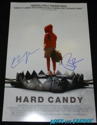 patrick wilson signed autograph hard candy mini poster ellen page rare hot rare