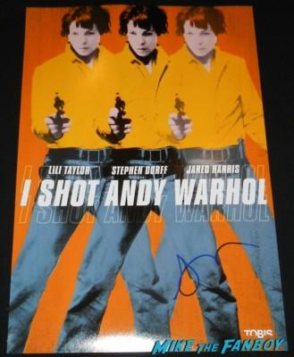 lili taylor signed autograph I shot andy Warhol movie poster rare signature