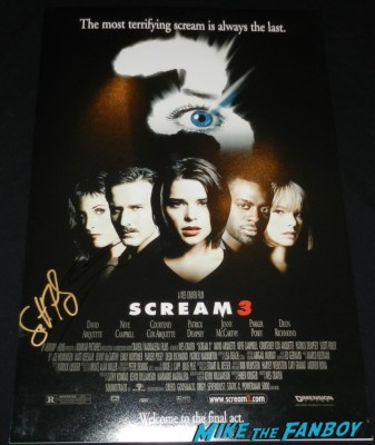 scott foley signed autograph scream 3 mini movie poster rare hot felicity