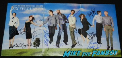 six feet under cast signed poster michael c hall lili taylor francis conroy lauren ambrose freddie rodriguez