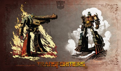 steampunk transformer drawing rare Walking Your Octopus book cover rare