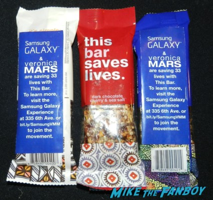 veronica mars charity granola bars samsung party veronica mars cast signed autograph poster kristen bell 001