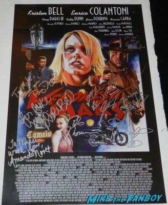 veronica mars cast signed autograph poster kristen bell 011
