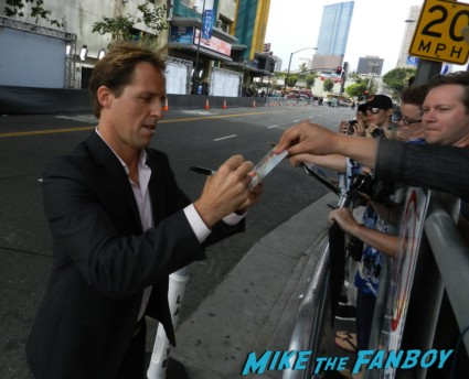 Nat Faxon signing autographs at the way way back premiere toni collette signing autographs rare 031