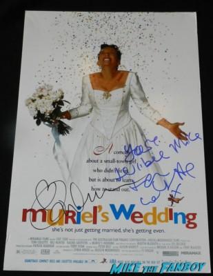 toni collette signed autograph muriel's wedding promo mini movie poster rare promo