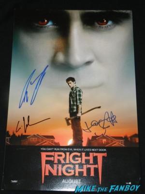 toni collette signed autograph Fright Night promo mini movie poster rare promo