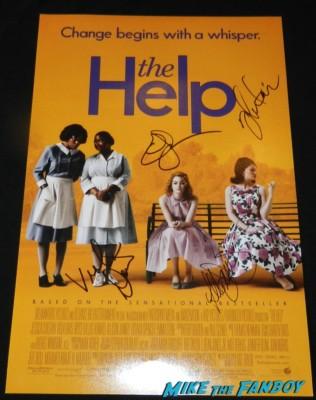 The help signed autograph mini movie poster allison Janney viola davis emma stone