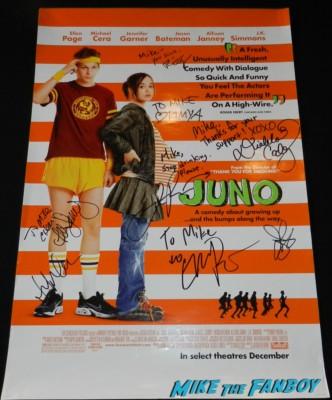 Juno signed autograph mini movie poster rare allison janney signed ellen page diablo cody jennifer garner