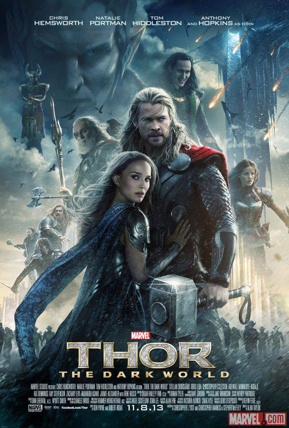 Thor: The Dark World one sheet movie poster promo chris hemsworth natalie portman anthony hopkins movie poster