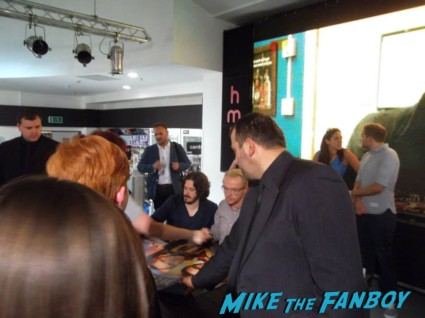 The world's End HMV Autograph signing Simon Pegg Nick Frost Edgar Wright signing autographs rare promo