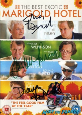 Tom Wilkinson signed autograph the best exotic marigold hotel poster