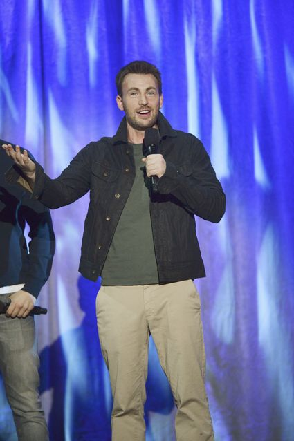 "CHRIS EVANS D23 EXPO - LET THE ADVENTURES BEGIN: LIVE ACTION AT THE WALT DISNEY STUDIOS - Anaheim, California (August 10, 2013) - The Walt Disney Studios showcases the Studios' exciting live-action release slate, including Disney's ""Saving Mr. Banks"" and ""Tomorrowland,"" ""Marvel's Thor: The Dark World,"" and much more. (D23 EXPO/Todd Wawrychuk) CHRIS EVANS"