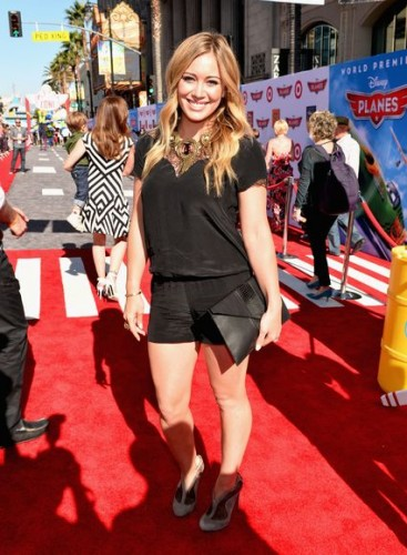 "hilary duff at the World Premiere Of ""Disney's Planes"" - Red Carpet"