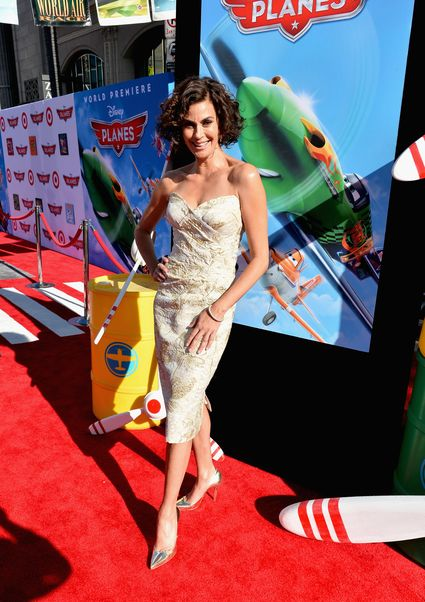 "teri hatcher on the red carpet at the World Premiere Of ""Disney's Planes"" - Red Carpet"