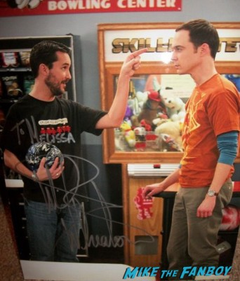 Wil Wheaton signed autograph photo bazinga  signing autographs at wizard world 2013 now rare the big bang theory star