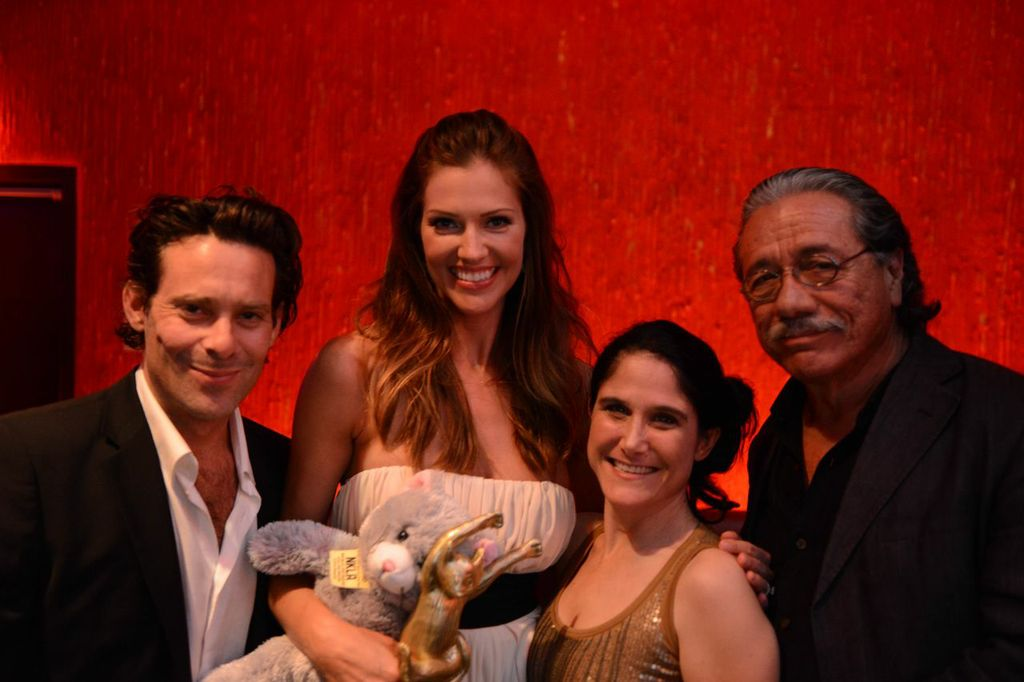 James CAllis tricia helfer edward james olmos on the red carpet at A CATBARET!