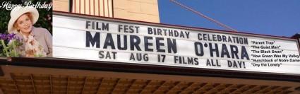 Maureen O'Hara marquee film fest idaho rare promo black and white promo still rare awesome hot starlet